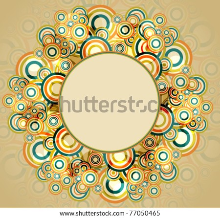 Abstract retro background, vector illustration - stock vector