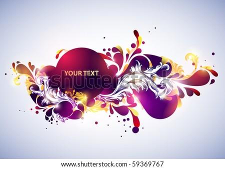 Abstract retro banner. - stock vector