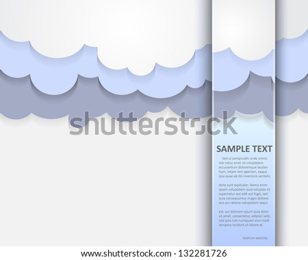 abstract retro cloudy background - stock vector