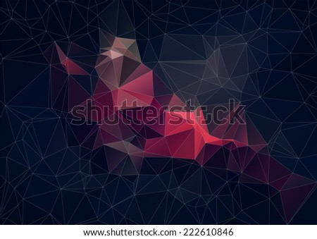 Abstract retro color Triangle Background, Vector  - stock vector