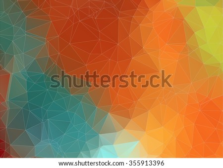 Abstract retro color triangle background, Vector  for your design - stock vector