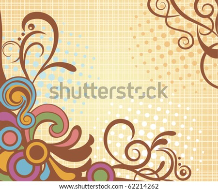 Abstract retro floral background. Illustration vector. - stock vector