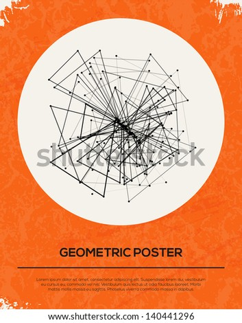 Abstract Retro Geometric Background. Vector Illustration. - stock vector