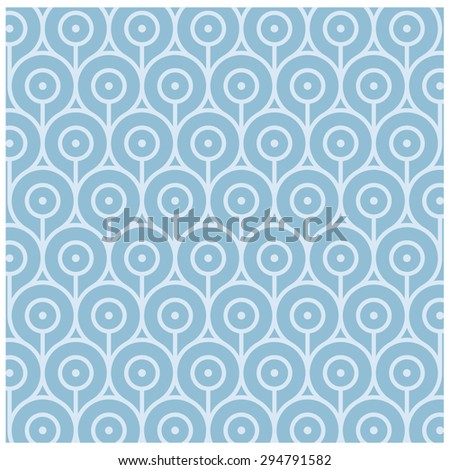 Abstract Retro Geometric pattern - stock vector