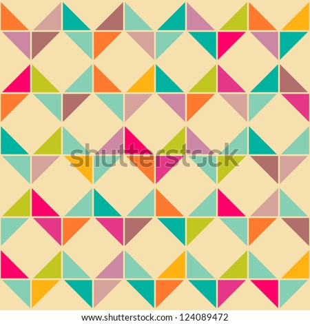 Abstract retro geometric seamless pattern - stock vector