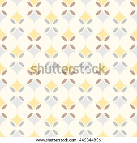 abstract retro geometric seamless pattern background, flower theme - stock vector