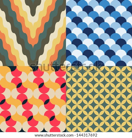 abstract retro geometric seamless pattern for design - stock vector