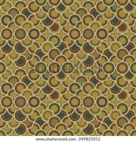Abstract Retro Geometric seamless pattern. Vector Illustration - stock vector