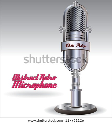Abstract Retro microphone - stock vector