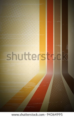 Abstract retro stripe background - vector file. - stock vector