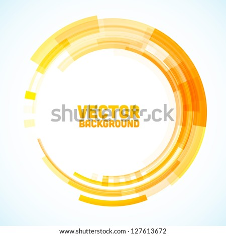Abstract retro technology circle. Vector illustration. - stock vector