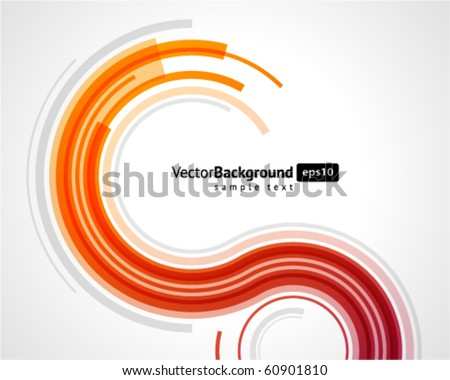 Abstract retro technology lines vector background - stock vector