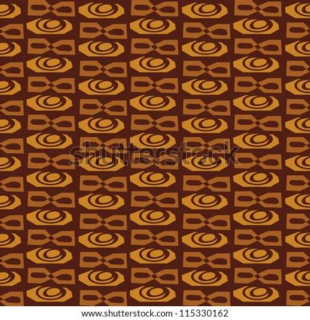 Abstract Retro Vector Tiki Polynesian Tribal Background Pattern Texture - stock vector