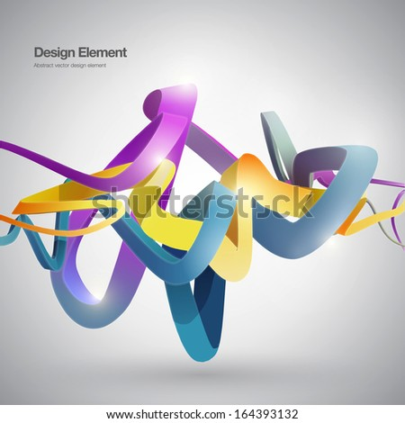 Abstract ribbon background - stock vector