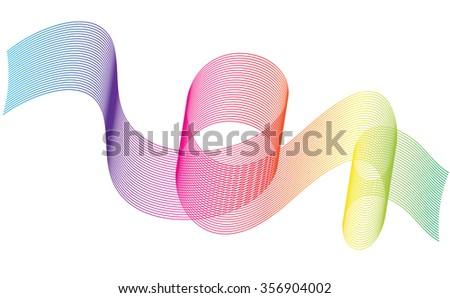 Abstract Ribbon Background. Beautiful rainbow stripes. - stock vector