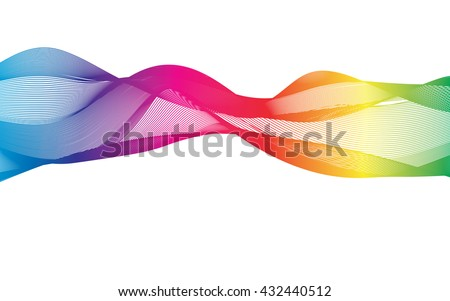 Abstract ribbons isolated on white.