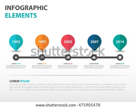 Abstract Roadmap Business Timeline Infographics Elements Stock - Website roadmap template