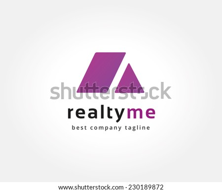 Abstract roof vector logo icon concept. Logotype template for branding and corporate design - stock vector