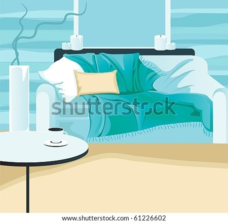 abstract room interior - stock vector