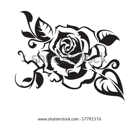 abstract rose - stock vector