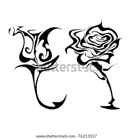 abstract roses vector - stock vector