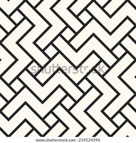 Abstract rotating zigzag shapes textured background. Seamless pattern. Vector. - stock vector