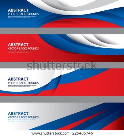Abstract Russian Flag, Russia National Colors (Vector Art) - stock vector