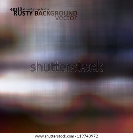 Abstract rusted metal, vector texture background eps10 - stock vector