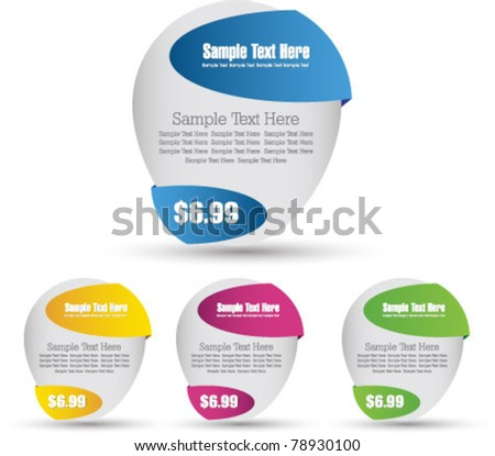 abstract sale banner set - stock vector