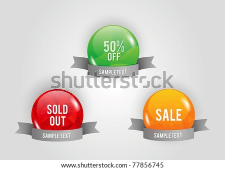 abstract sale vector buttons - stock vector