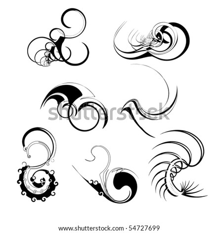 Abstract, scalable brushes and schapes.