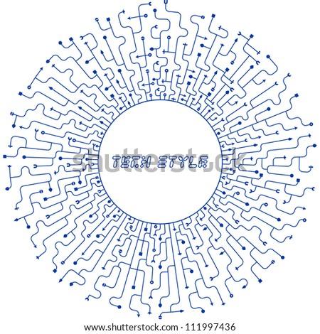 Abstract scheme. Vector illustration. - stock vector