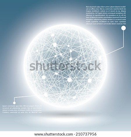 abstract science sphere - stock vector