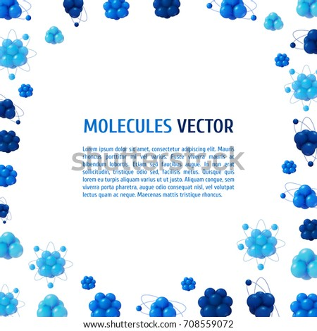 Abstract Scientific Background Atoms Structure 3 D Stock Vector ...