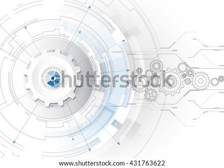 Abstract scientific future technology background, vector illustration