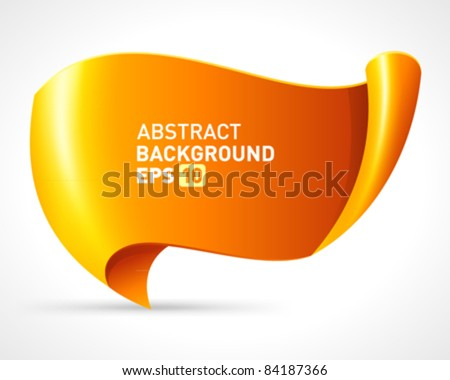 Abstract scroll paper vector background eps 10 - stock vector