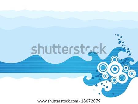 Abstract sea waves. Vector illustration