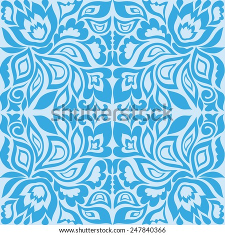 Abstract seamless background. Hand drawn floral and geometric pattern. Can be used for card design, wallpaper, pattern fills, web page background, surface textures - stock vector