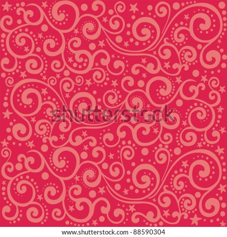 Abstract seamless background on red background. vector illustration - stock vector
