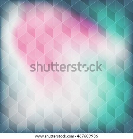 Abstract seamless background with cube decoration