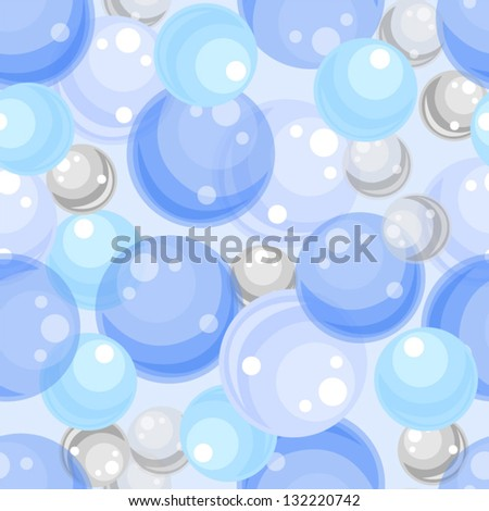 Abstract seamless background with glass balls. Vector EPS-10.