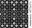 Abstract seamless black and white pattern (vector) - stock vector