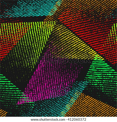 amp 187 geometric multicoloured triangles - photo #47