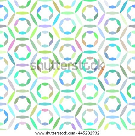 Abstract seamless colorful geometric hexagon pattern on white background. Design element for background, backdrop, textile, cover, paper packaging, wrapping paper and other. Vector illustration. - stock vector
