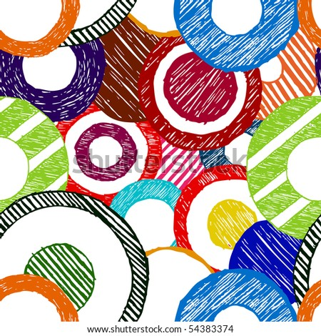 abstract seamless doodle circles - stock vector