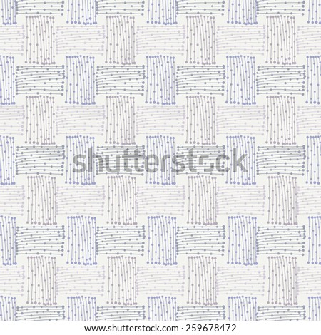 abstract seamless doodle pattern - stock vector