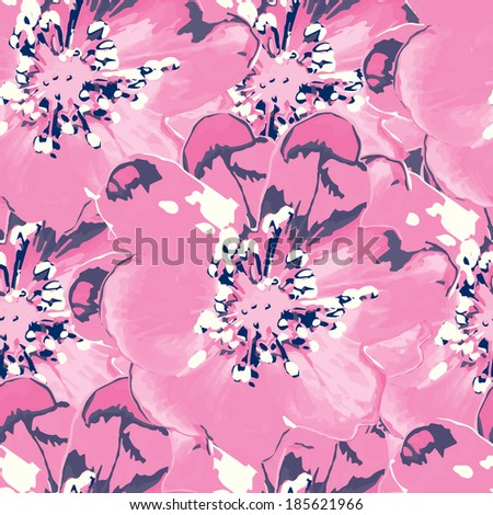 Abstract seamless floral background.