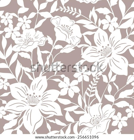 abstract seamless  floral   background - stock vector