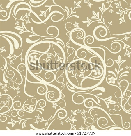 Abstract seamless floral pattern. Illustration vector. - stock vector