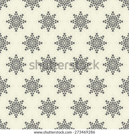 abstract seamless floral spotty pattern - stock vector